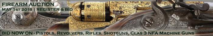 Firearm Auction - BID NOW - Pistols Revolvers Shotguns Rifles Class 3 NFA Machine Guns - Banner 5118