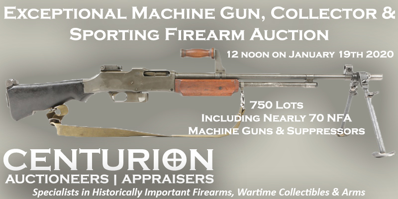 Exceptional Machine Gun Collector Sporting Firearm Auction