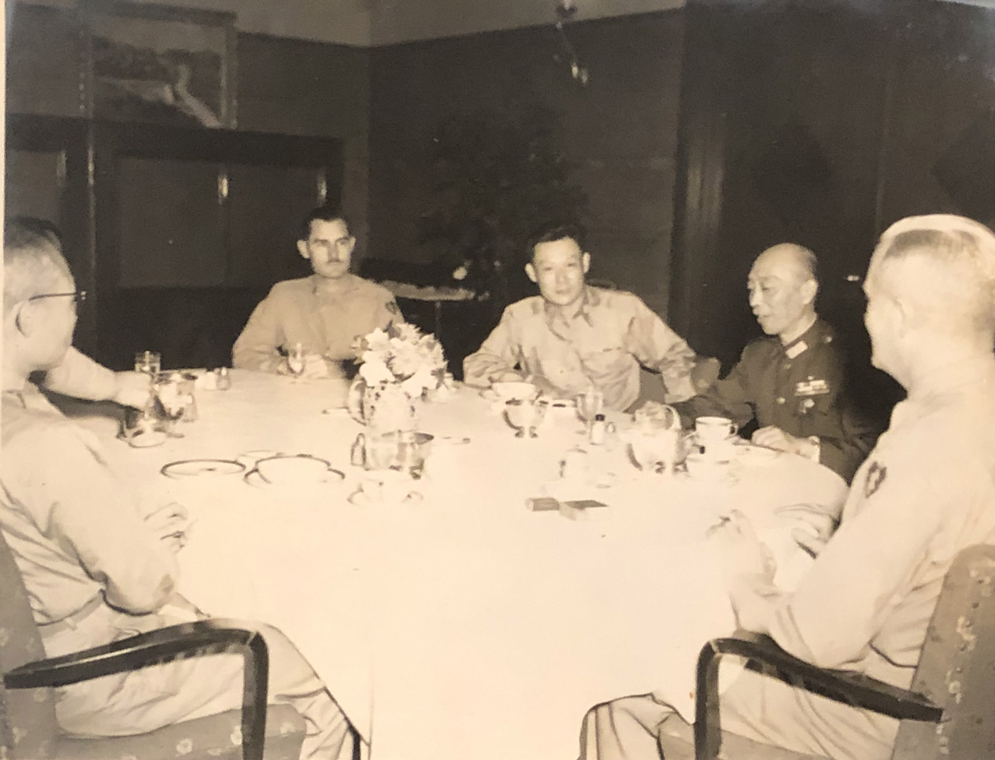 Colonel Walter Buie   WWII Japan Chief of Staff for the 25th Infantry Division   Seated at Table