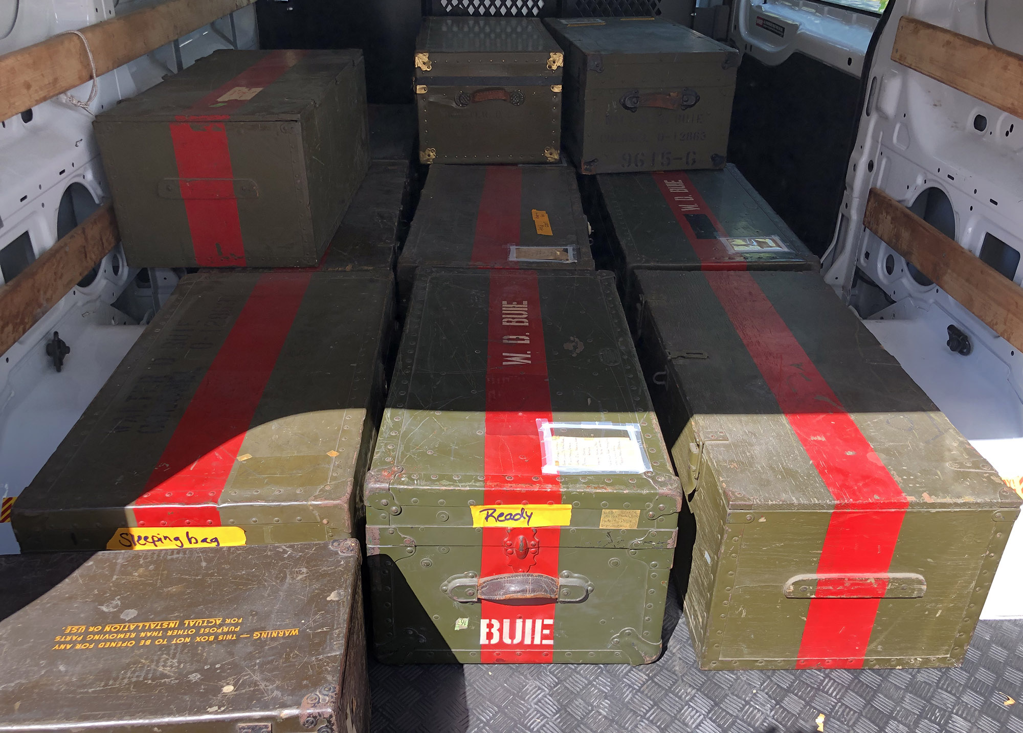 Colonel Walter Buie   WWII War Trophy Collection Stored in Original Period Trunks