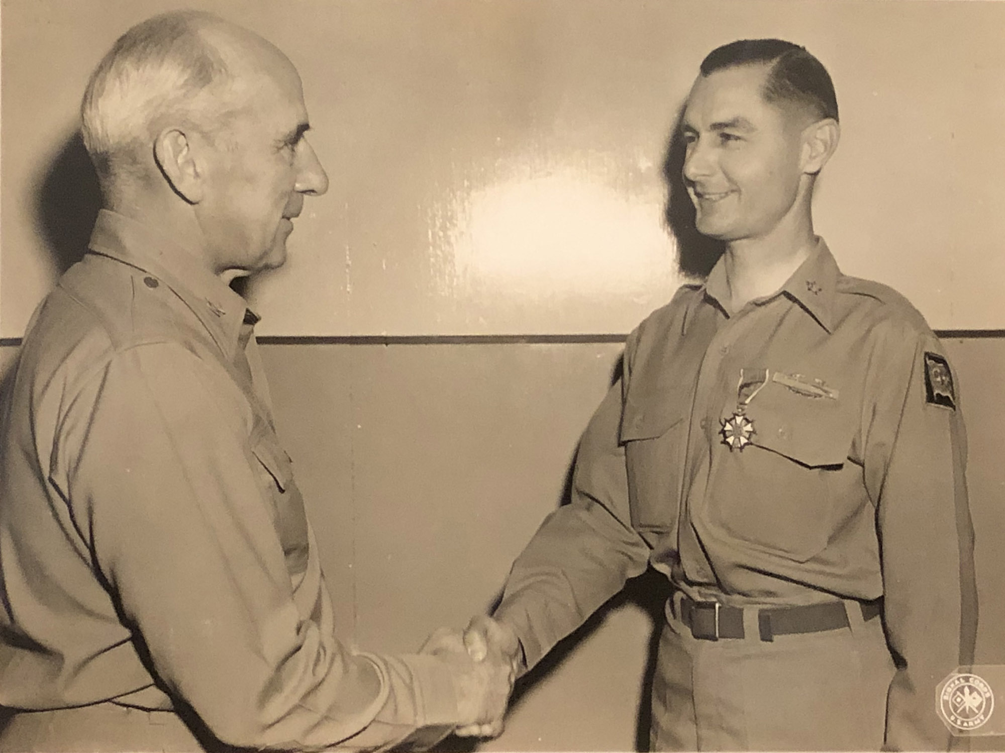 Colonel Walter Buie Awarded Legion of Merit with Oak Leaf Cluster   Japan WWII